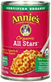 star pasta organic - Annie's Organic All Stars Canned Pasta in Tomato & Cheese Sauce 15 oz -Pack of 12