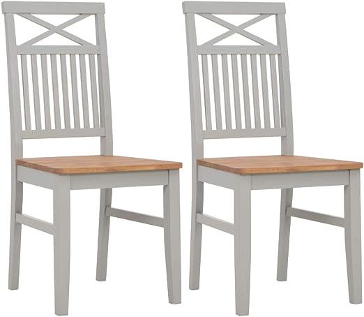 Tidyard- Mesa de Comedor 2 sillas de Roble Blanco Estructura de ...