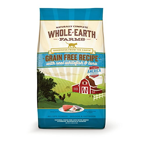 Whole Earth Farms Grain Free Whitefish & Tuna Recipe Dry Cat Food, 10 Lb from Whole Earth Farms