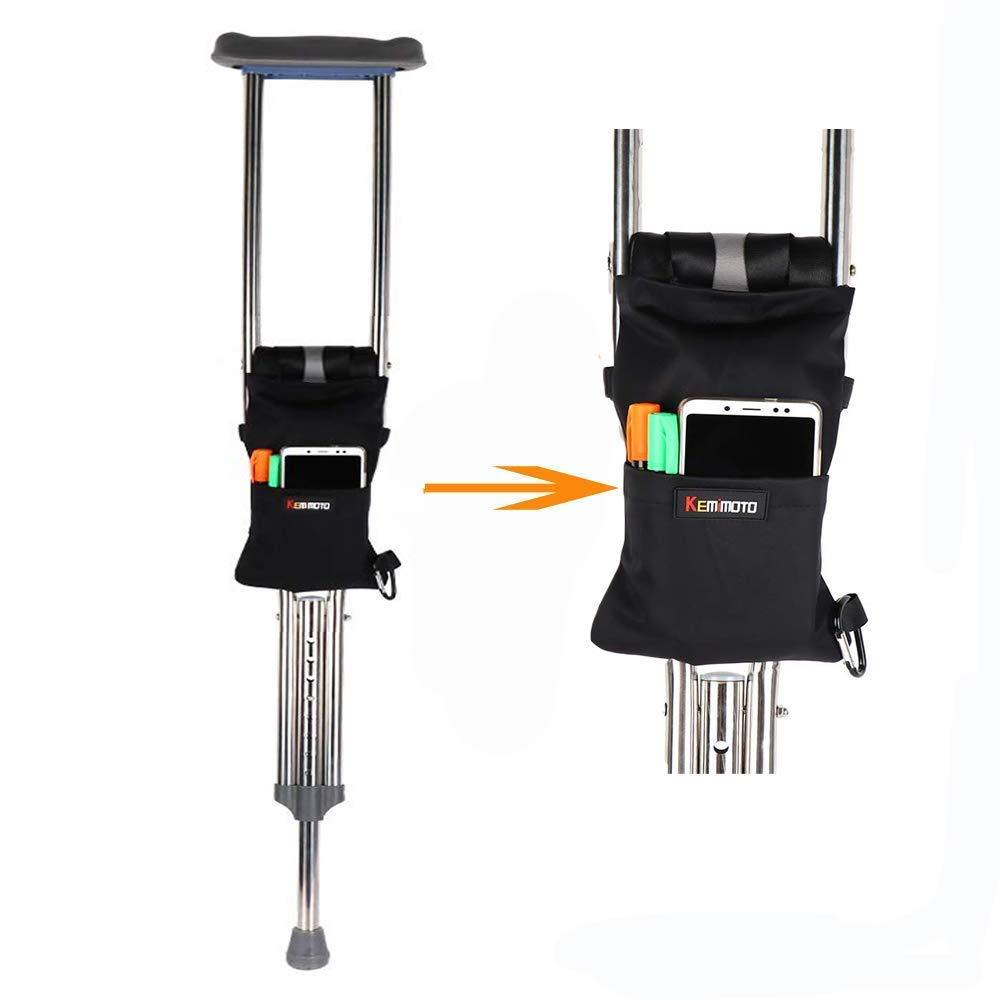 kemimoto Crutch Bag Walker Pouch Crutches Accessories