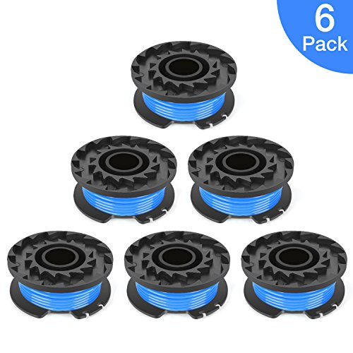 POSUGEAR 16ft 0.065 Inch Single Line String Trimmer Replacement Spool for Greenworks-6 pack by POSUGEAR