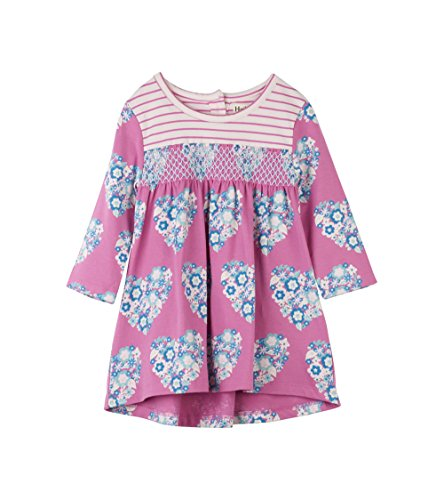 Hatley Baby Girls Mini Smocked Dress, Blooming hearts, 12-18M (Hatley Heart)
