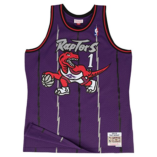 Tracy McGrady Toronto Raptors Mitchell & Ness Swingman Jersey Purple (Medium)