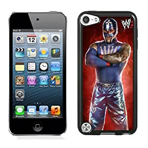 Customized Apple iPod Touch 5th Case Wwe Superstars Collection Wwe 2k15 Rey Mysterio in Black Phone Case For iPod Touch 5 Case