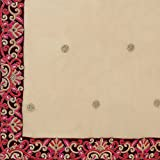 Triveni Womens Indian Beige Synthetic Embroidered Lehenga Choli