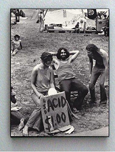 Rare Framed Hippie Outdoor Concert Acid Drug Sale Vintage Photo. Jumbo Gicl?e Print