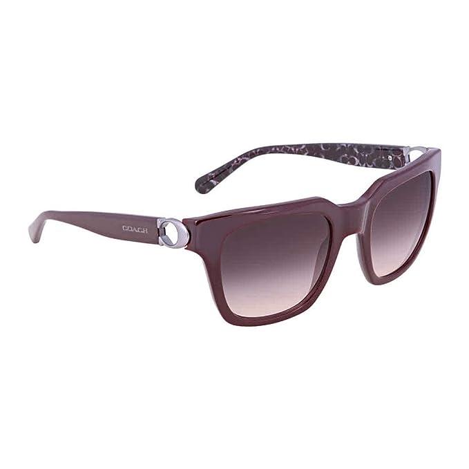11346bcbce Coach HC 8240 Burgundy Gray Lens Sunglasses  Amazon.ca  Clothing ...