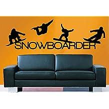 Wall Decal Vinyl Sticker Decals Art Decor Design Snowboarding Snowboarder Play room Game Kids Children Sport Extrime Bedroom Nursery (r1020)