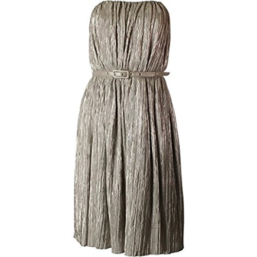 French Connection Strapless Lola Ball Dress Silver Size 6