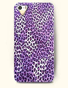 iPhone 5/5S Case, OOFIT Phone Cover Series for Apple iPhone 5 5S Case (DOESN'T FIT iPhone 5C)-- Purple Panther Pattern -- Animal Print