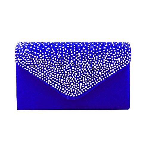 bleu femme pour Silver Flada Pochette roi argent moyen wRPxnYqn