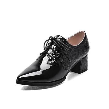 Mujer Encaje Muyii Zapatos Tacón Charol De Alto wxqXZ64q ea3b2f48fa35