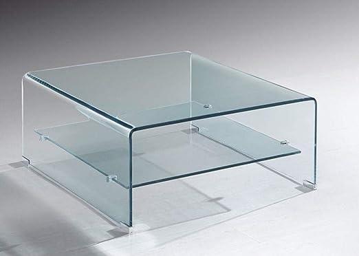 Grupo SDM - Mesas Centro de Cristal - Mesa Cristal Cuadrada Drew ...