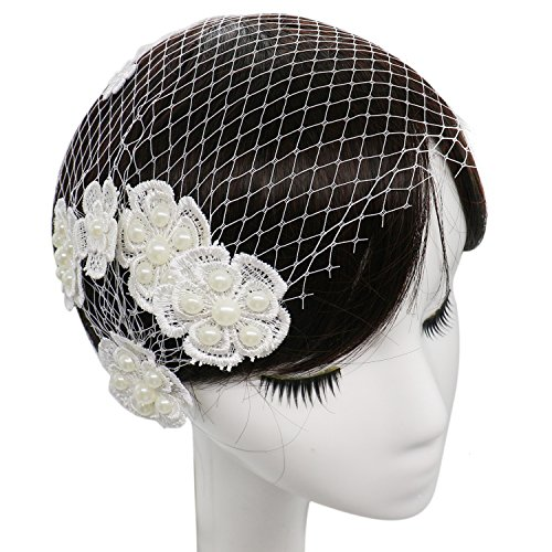 Any Birdcage - Buorsa Elegant Short Mesh Birdcage with Comb Accessories Bridal Wedding Veil Headwear for Bride