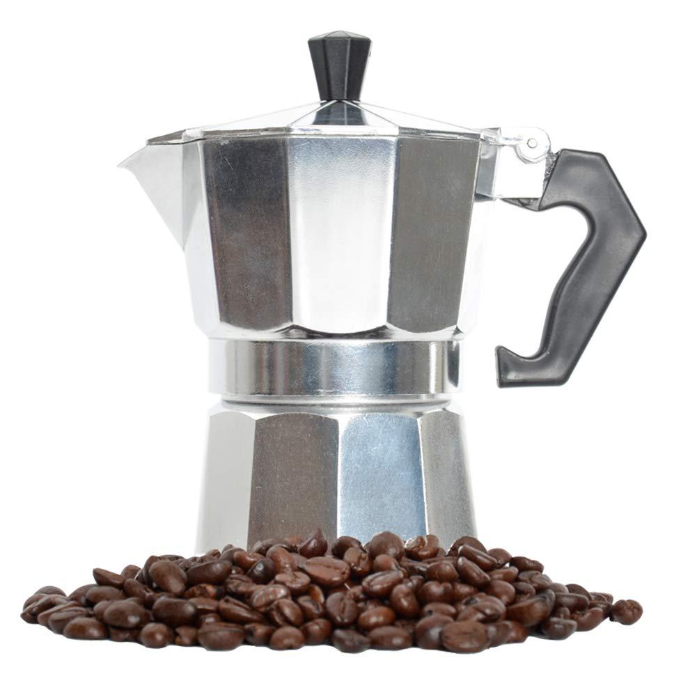 Moka Pot Coffee Maker Stovetop Espresso Maker (3-cup)