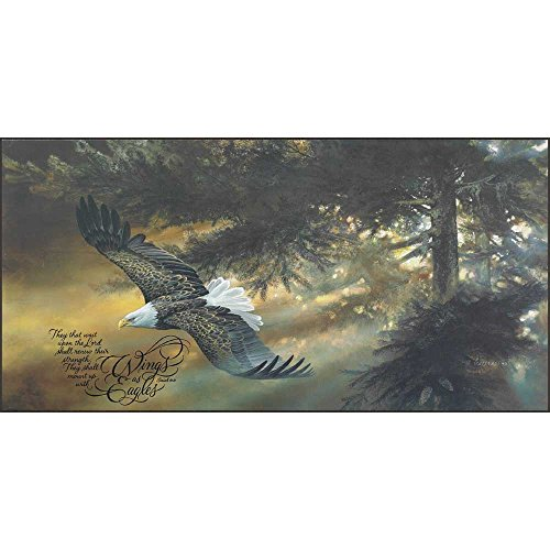 Dicksons Mount Up With Wings As Eagles Soaring Sunlight 12 x 24 Wood Wall Sign Plaque - Eagle Plaque Mount
