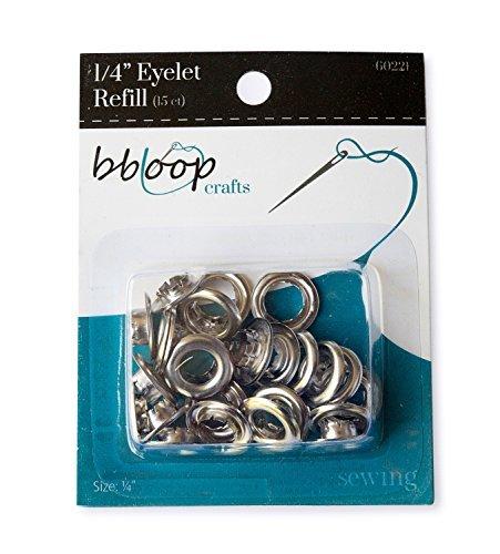 bbloop Eyelet Refill. 15 Count. Large Grommet Set. (1/4