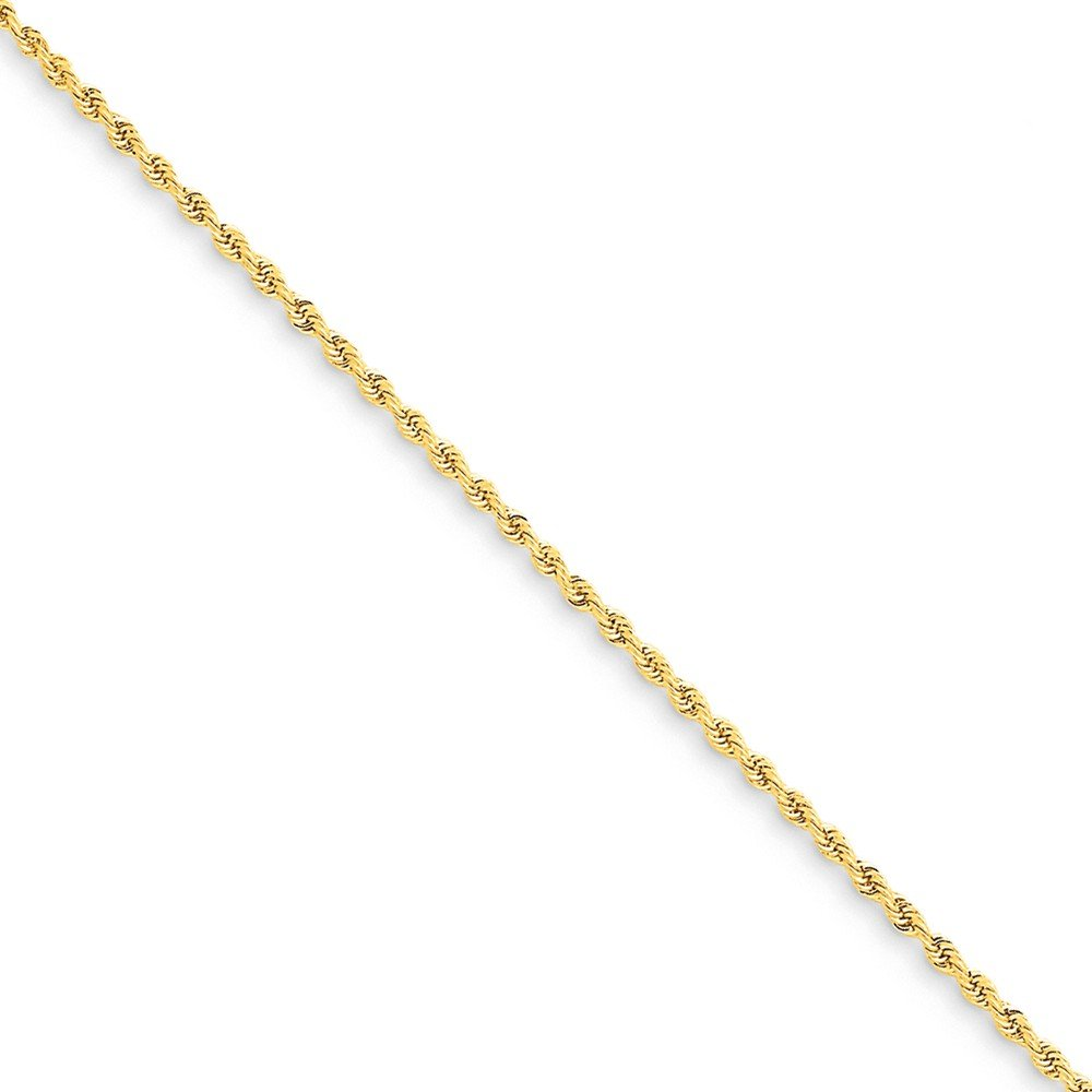 Top 10 Jewelry Gift 14k 1.50mm Handmade Regular Rope Chain