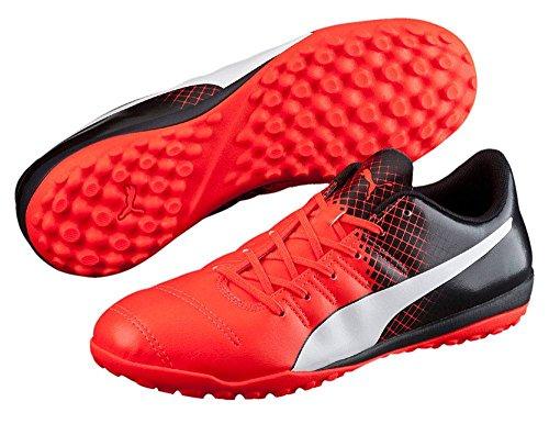 Puma Evopower 4.3 Tricks Tt, Botas de Fútbol para Hombre rojo neón/ negro