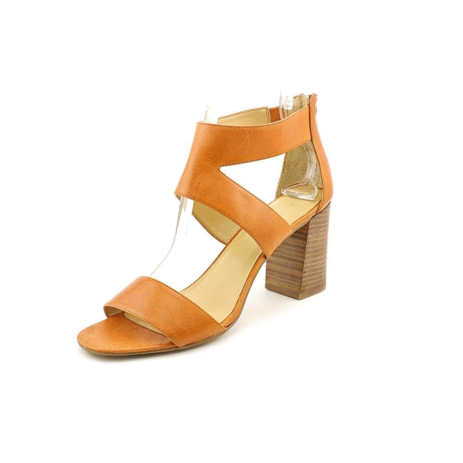 VERYNOW NATURAL LEATHER SANDAL HEELS WOMEN SIZE 8.5 M