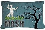 Caroline's Treasures Monster Mash With Mummy Halloween Canvas Fabric Decorative Pillow, Large, Multicolor