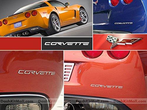 SF Sales USA - Chrome Plastic Letters fit Corvette C6 2005-2012 Rear Bumper Inserts Not Decals