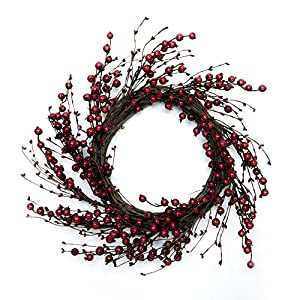 CraftMore Red Berry Wreath, 20 Inch 13
