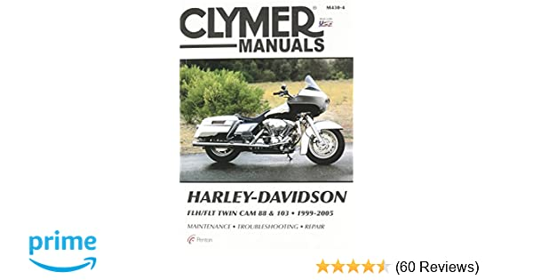 amazon com: clymer repair manual for harley flh flt twin cam 88 99-05:  automotive