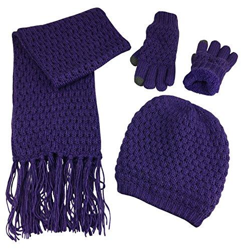 popcorn knit scarf - 7