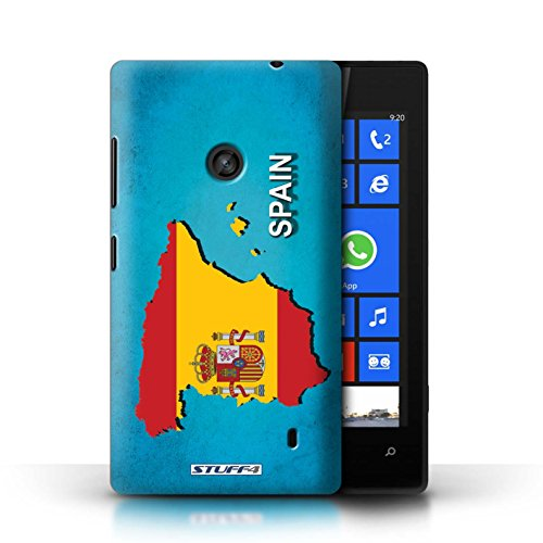 Kobalt® Imprimé Etui / Coque pour Nokia Lumia 520 / Espagne/Espagnol conception / Série Drapeau Pays