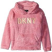 DKNY Girls' Faux Fur Hooded Sweater,