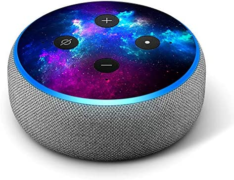 Galaxy Space Gasses - Vinyl Decal Skin Compatible with Amazon Echo Dot 3rd Generation Alexa - Decorations for Your Smart Home Speakers, Great Accessories Gift for mom, dad, Birthday, Kids