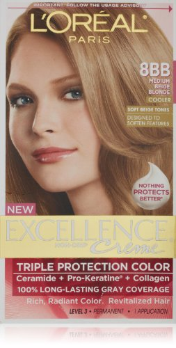Lu0026#39;Oreal Excellence Triple Protection Color Creme Haircolor8BB Medium Beige Blonde | Lu0026#39;Oreal ...