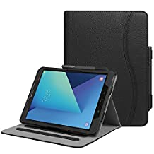 Fintie Samsung Galaxy Tab S3 9.7 Case, [Corner Protection] Multi-Angle Viewing Stand Cover Card Pocket with S Pen Protective Holder Auto Sleep/Wake for Tab S3 9.7-Inch Tablet (SM-T820/T825), Black