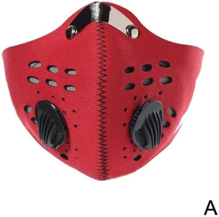 MDLJY Mascara Máscara Facial antibacteriana Profesional para la Boca y 2 respiradores Reutilizables de carbón Activado para prevenir la Saliva Respirador contra Salpicaduras Máscaras Anti Smog