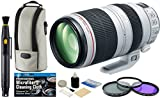 Canon EF 100-400mm f/4.5-5.6L IS II USM Zoom Telephoto Lens + Filter Kit + Accessory Bundle