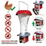 PestOff Rat Proof Chicken Feeder Kit - Rat Proof & Large Bird Proof Poultry Feeder - Weather Proof - 4lts / 8lbs Capacity - BRAND NEW