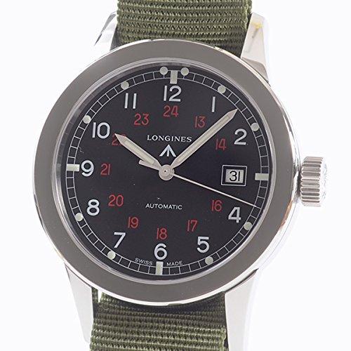 [ロンジン]LONGINES 腕時計 ヘリテージミリタリー L2.832.4 中古[1304038]ブラック 付属:メーカー付属品なし *当店オリジナルBOX付 B07DPDXXFT