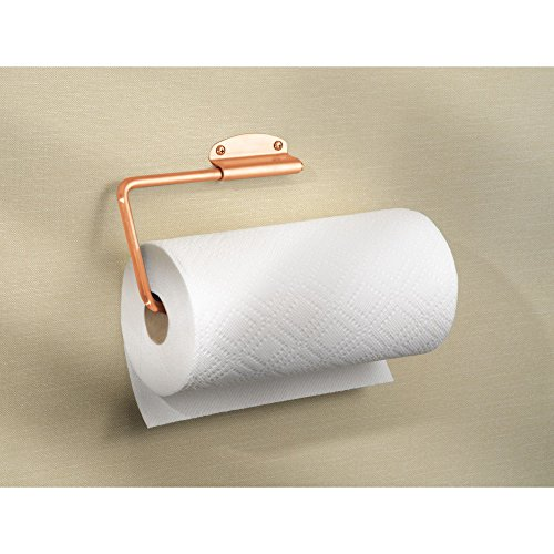 InterDesign Forma Metal Swivel Wall Mount Paper Towel Holder Dispenser for Under Cabinet or Door, 4.5