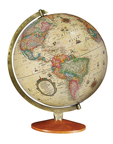 (Replogle Odessa - Antique Ocean 2-Way Map, Illuminated World Globe, Raised Relief, Up-to-Date Cartography, Made in USA(12
