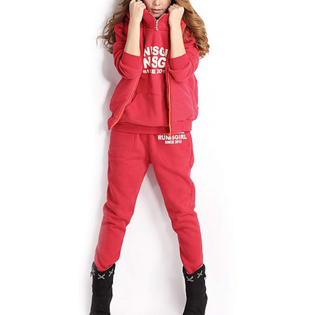 Fulision Women's Hooded Pullover Sportswear Fashion Fall Winter Set Fulision Co. Ltd