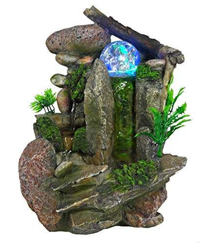 Tabletop Fountain Indoor Fountain Waterfall Nature's Garden by GiftsRDecor