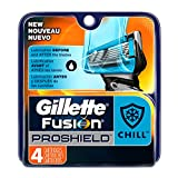 Gillette Fusion ProShield Chill Men's Razor Blade Refills, 4 Count