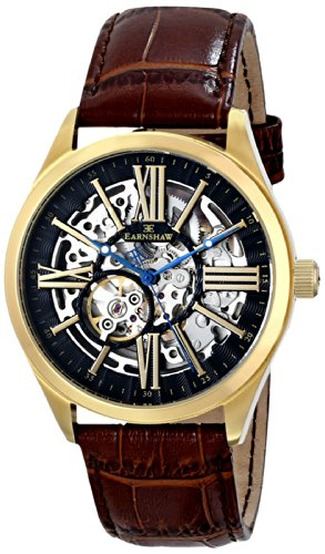 Thomas Earnshaw Men's ES-8037-03 Armagh Analog Display Automatic Self Wind Brown Watch
