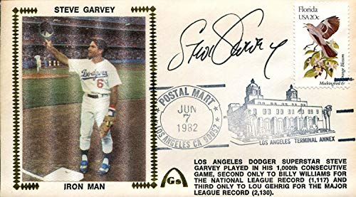 - Steve Garvey Autographed First Day Cover