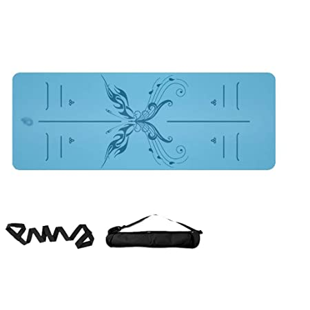 Yoy-mat Estera de Yoga Antideslizante de 5 mm Caucho Natural ...