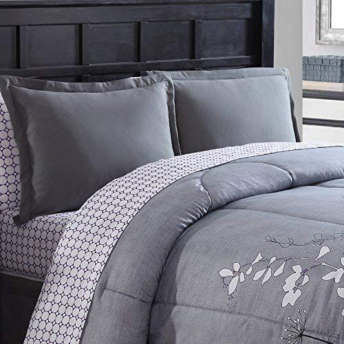 Ellison Great Value Bainbridge 8 Piece, Queen Bed in a Bag, Purple