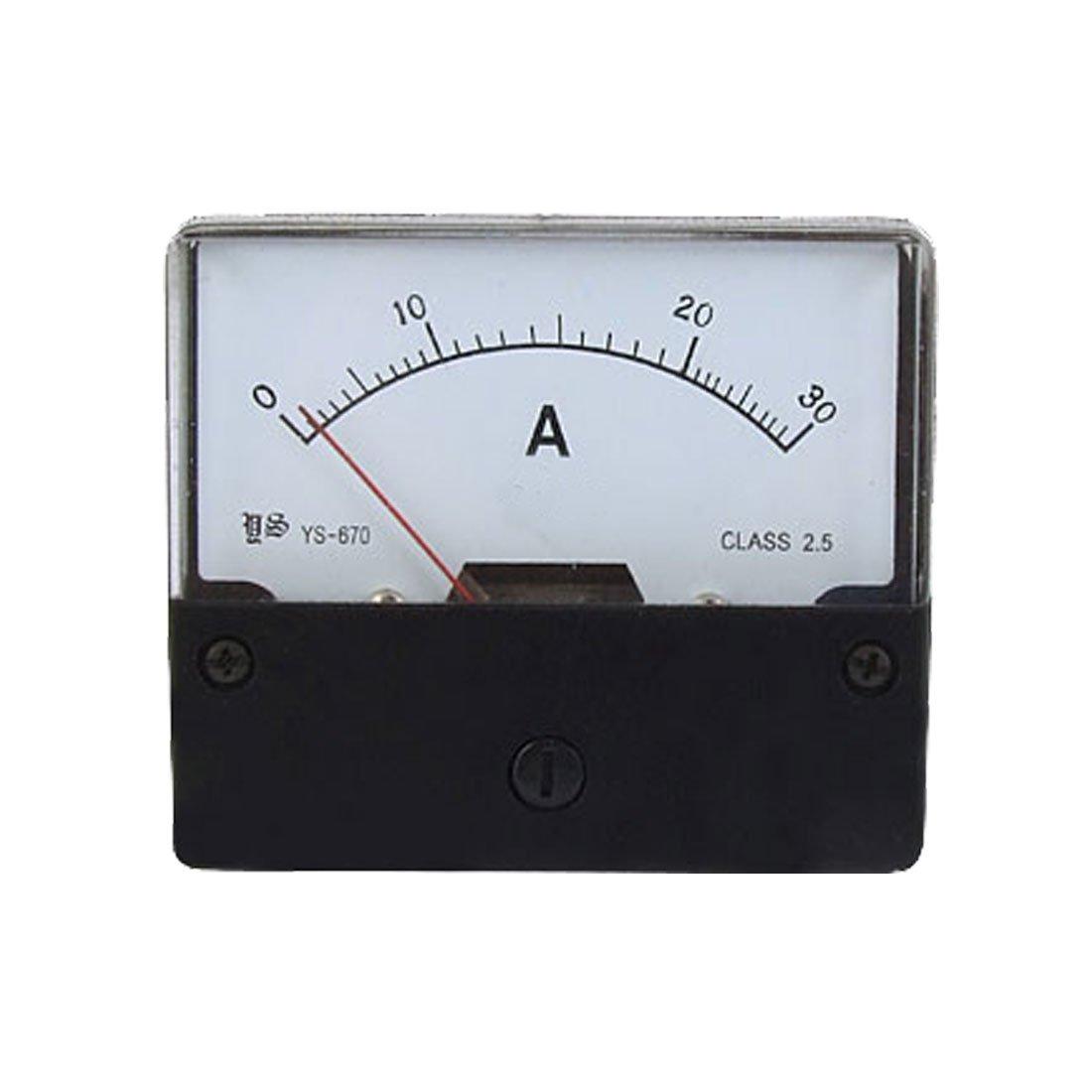AC 30A Rectangular Panel Analog Meter Ammeter YS-670: Amazon.co.uk: DIY &  Tools
