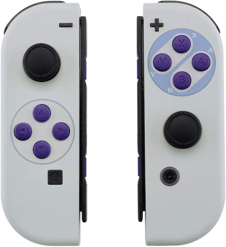 eXtremeRate Carcasa Esmerilada para Nintendo Switch Joy-con, Funda de Agarre de reemplazo Joycon Shell con Botón Completo para Nintendo Switch No Incluye la Carcasa de la Consola (Clásicos SNES): Amazon.es: Electrónica