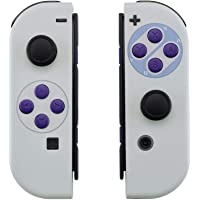 eXtremeRate Soft Touch Grip Classics SNES Style Joycon Handheld Controller Housing with Full Set Buttons, DIY…